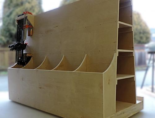 Make a Rolling Lumber Storage Cart