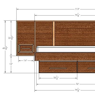 Make a mid century modern bed frame build plans buildxyz for Mid century modern blueprints